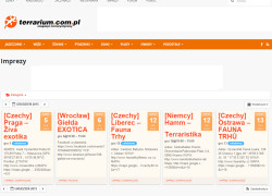 Wydarzenia nowym działem na terrarium.com.pl