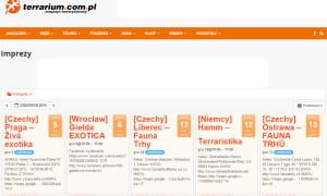 Imprezy nowym działem na terrarium.com.pl