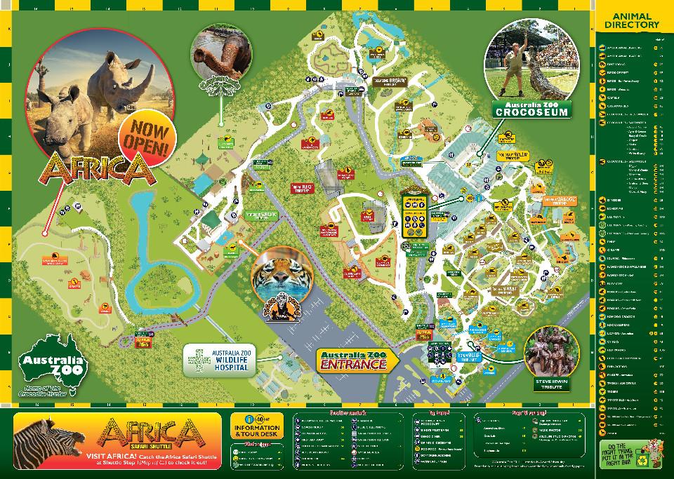 Mapa - Australia Zoo w Beerwah
